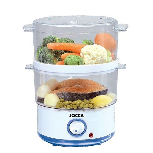 Jocca 5555 Sistema de cocción al vapor, color blanco y azul, 400 W, Plástico