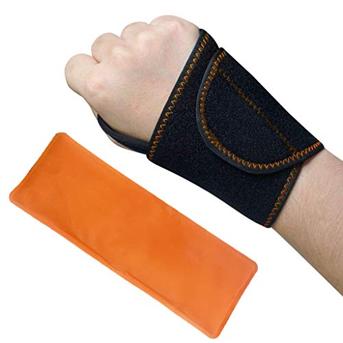 Wrist Ice Hot Cold Gel Pack Wrap, wiederverwendbar zur Behandlung von Verstauchungen, Schwellungen, Sehnenentzündungen, Sportverletzungen und Linderung von Gelenkschmerzen