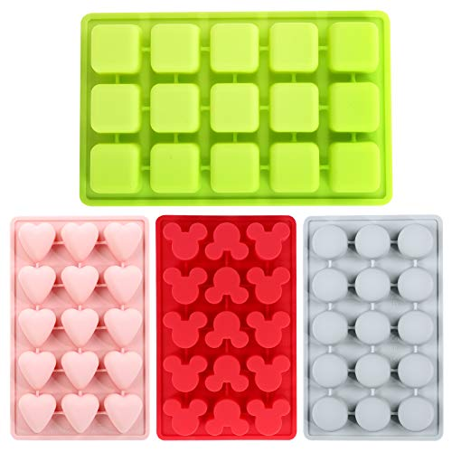 Silicone Mold for Chocolate, Candy and Ice Tray, 4pcs, Includes...