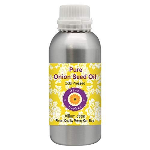 Deve Herbes Pure Oignon Seed Oil (Allium cepa) 100% naturel de qualité thérapeutique pressé à froid pour les cheveux, le cuir chevelu, la peau et le massage 300ml (10 oz)