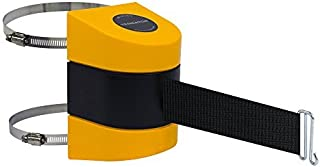 Tensabarrier 897-24-C-35-NO-B9X-A Wall Clamp Mount Yellow Caps No Custom Black Webbing Wire Clip Belt End 24' [並行輸入品]