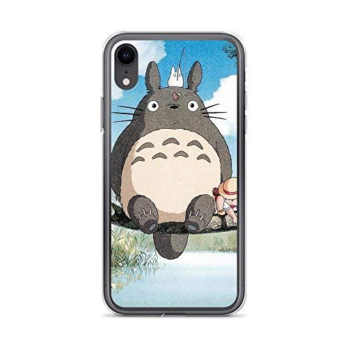 Compatibile con iPhone 6 Plus/6s Plus Custodia Ultra-Thin Morbido TPU Protettivo Pure Clear Apple Custodie per Telefoni Cover On The Tree Branch Anime Japanese Movies Totoro