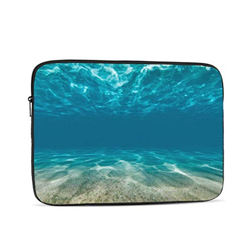 Ocean Bottom and Surface Underwater Laptop Sleeve Bag,Polyester Universal Sleeve Zipper Protective Cover Case for Notebook,Laptop Sleeve with Corner Protection Compatible 17 Inch