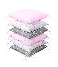 Amilian Protector de bordes para cuna de bebé, suave, protección para los bordes de la cuna, 210 cm, para parque de juegos, cama infantil, cojín para habitación infantil (Design48)