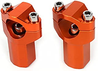 JFG RACING CNC 21mm Higher HandleBar Risers Bar Mounts Clamps For 125-530 Sx Sx-F Exc Xc-W Xcf-W Exc-F 00-16
