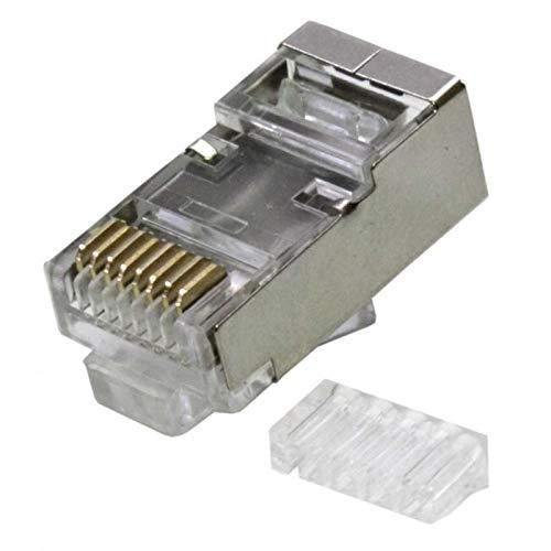 Conector Rj45 Cata FTP 8p8c Blindado con Guia Dcu