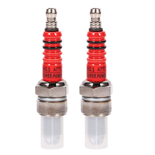 Keenso, 2 candele di accensione per GY6, ad alte prestazioni, 3 elettrodi, per scooter, ATV, Quad, GY6, 50 cc, 110 cc, 125 cc, 150