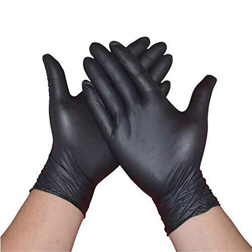 100 STKS Zwart Wegwerp Handschoenen Latex Vaatwasser/Keuken/Medisch/Werk/Rubber/Tuin Handschoenen Universeel voor Links en Rechts Hand