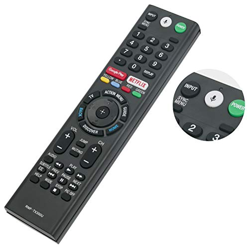 New Replace RMF-TX300U Voice Remote Control with Mic fit for Sony 4K Smart LED TV HDTV Bravia XBR-43X800E XBR-49X800E XBR-55X800E XBR-55X806E XBR-65X850E 149331811 KDL-50W800C KDL-55W800C KDL-65W800C