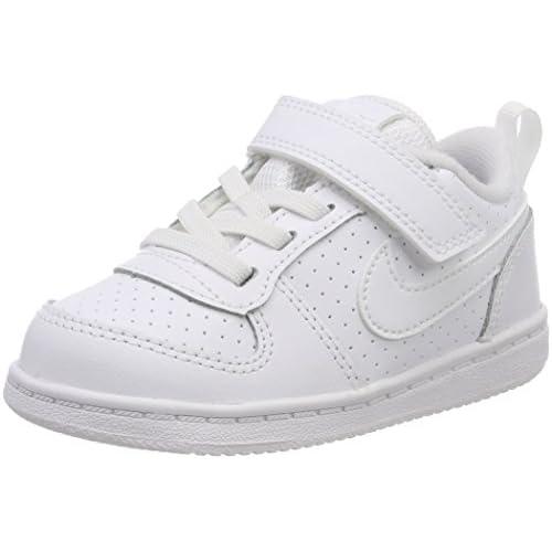 Nike Court Borough Low (TDV), Scarpe da Basket Unisex-Bambini, Bianco White 100, 23.5 EU
