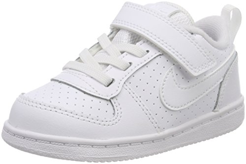 Nike Court Borough Low (TDV), Scarpe da Basket Unisex-Bambini, Bianco White 100, 27 EU