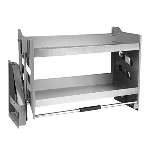 Hebekorb für Küchenwandschrank, platzsparend und tragfähig, ausziehbarer Küchengestellschrank Edelstahlregal,71x28x52cm