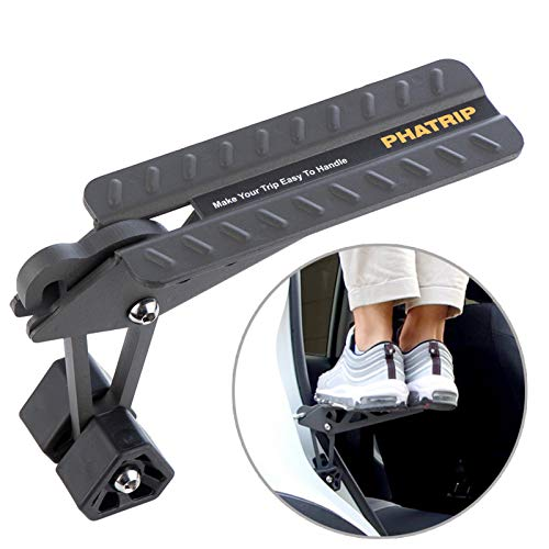 PHATRIP Car Doorstep, Folding Pedal Ladder Easy Access to Car Roof Top, Door Latch Hook Pedal Both Feet to Stand on, Fit for Most SUV JEEP Trucks Vans Mini Vehicle