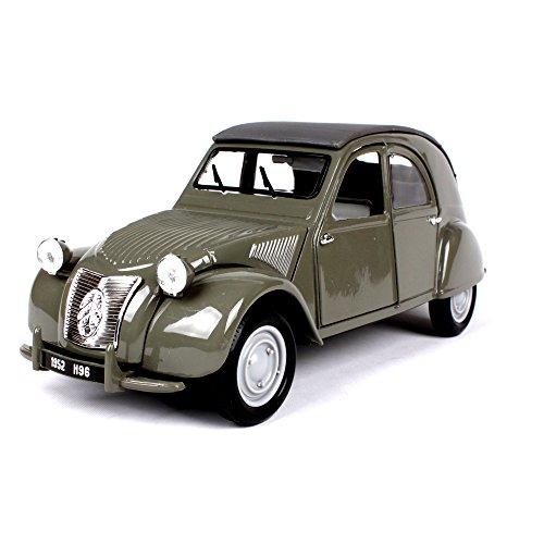 Penao 1952 Citroën 2CV Simulation Alliage Modèle de Voiture, Décoration de Voiture Modèle, Ornements d'Automobile, Ratio 01:18