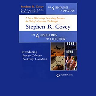 The 4 Disciplines of Execution                   By:                                                                                                                                 Stephen R. Covey,                                                                                        Jennifer Colosimo                               Narrated by:                                                                                                                                 Stephen R. Covey,                                                                                        Jennifer Colosimo                      Length: 2 hrs and 52 mins     131 ratings     Overall 3.7