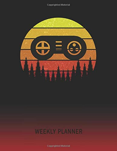 Weekly Planner: Video Game Control Pad | 2021 - 2022 | Plan Weeks for 1 Year | Retro Vintage Sunset Cover | January 21 - December 21 | Planning ... | Plan Days, Set Goals & Get Stuff Done