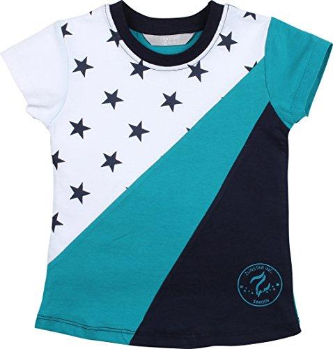 Zunstar Jungen Scott T-Shirt, Navy/Petrol, 86/92