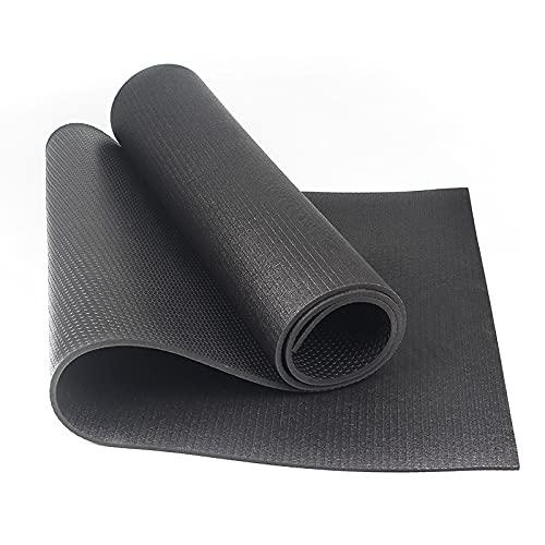 AOOF Esterilla de yoga, PVC de alta densidad, peso ligero, agarre de alto rendimiento, soporte estable, adecuado para yoga, pilates, gimnasio, fitness antideslizante, estándar 183 cm × 61 cm × 0,6 cm