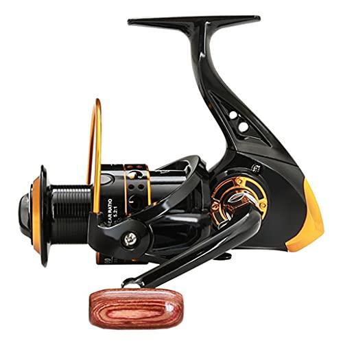 ZHYLing Carrete de Pesca Nueva Bobina de Pesca Handshake de Madera 13BB Spinning Principal Metal Izquierda/Mano Derecha Ruedas DE Pesca Accesorios (Color : Black, Spool Capacity : 2000 Series)