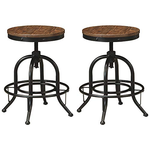 Signature Design by Ashley Pinnadel Counter Height Bar Stool, Light Brown