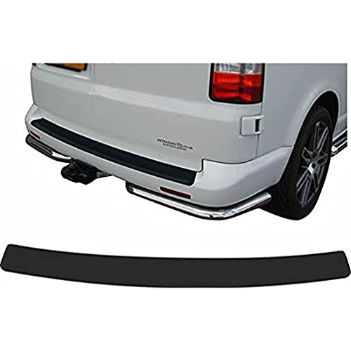 AMPTRV Car Rear Bumper Protector For VW T6 T5,Carbon Fiber Rear Door Trunk Sills Scratch Plate Guard Cover Protective Decorative Strips Styling modification Body Fittings