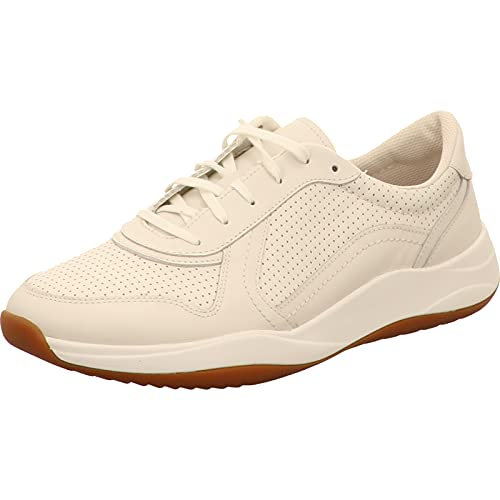 Clarks Sift Speed, Zapatillas Hombre, Blanco (White Leather White Leather), 44 EU