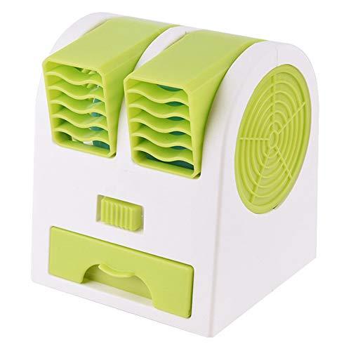 L&B-MR Aire Acondicionado Portátil, con Tanque de Agua y ventilaciones Dobles, Enfriador de Aire/humidificador/purificador 3 en 1, Silencio, para Oficina, Hogar,Verde