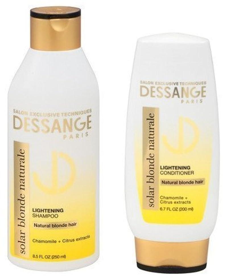 Dessange Paris Solar Blonde Naturale Bundle - Lightening Shampoo- 8.5 Oz and Lightening Conditioner- 6.7 Oz (Bundle of 2 Items)