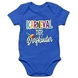 Shirtracer Karneval und Fasching Baby - Karneval der Dorfkinder - weiß - 1/3 Monate - Royalblau - Body für Baby mädchen - BZ10 - Baby Body Kurzarm für Jungen und Mädchen