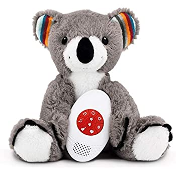 Zazu Musical Soft Toy with Heartbeat Sound, Coco The Koala, Grey