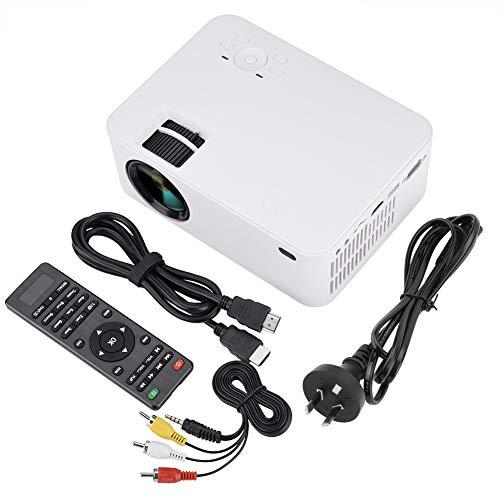 Delaman Proiettore Portatile Proiettore LED Portatile Supporto HD 1080P 3D HDMI VGA AV USB 2800lm Mini Home Theater AU (Taglia : A100-220V)