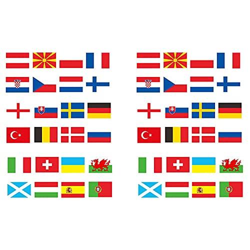 Nicejoy 2021 Folat Wimpelkette Mit Europaflaggen 20x28cm Eurovision Flagge Bunting Mit Alle 24 Teams Flags Teilnehmenden Bunting Für Garten Bar Restaurant Und Party-Dekoration 2pcs