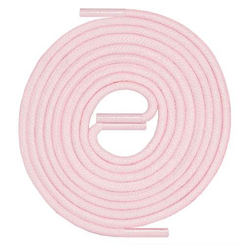 LACCICO Finest Waxed Laces ROSA Durchmesser 2,5mm, robuste gewachste allround Schnürsenkel, Farbe:Rosa, Länge:45 cm