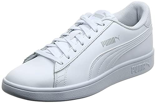 PUMA Smash v2 L Jr, Scarpe da Ginnastica Unisex-Adulto, Bianco White White, 36 EU