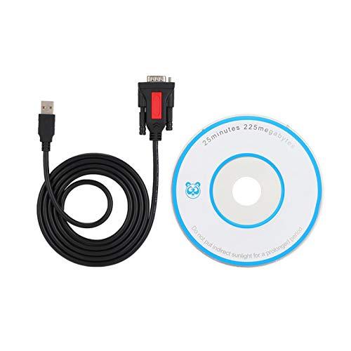 Socobeta USB a RS232 Superficie Lisa Buena compatibilidad Cable Serie USB a 232 de 9 Pines para conexión de Impresora