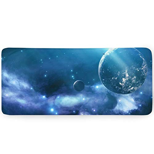 Aoliaofc Galaxy Mouse Pad Colorful Aurora Mousepad Large Gaming Mousepad Rubber Base Computer Laptops Keyboard Mouse Mat for Home Office Travel 35.4'x15.7'