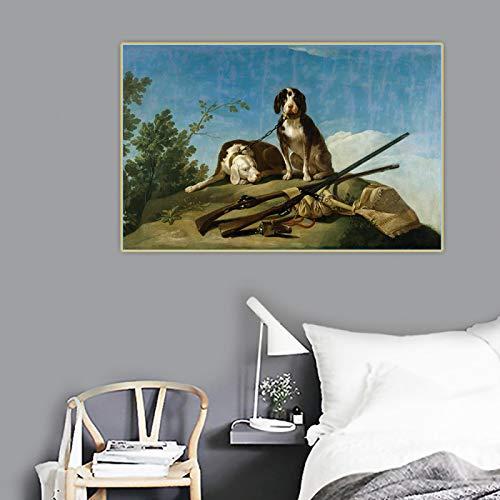 Impresión de lienzo Francisco Goya 《Perros con correa》