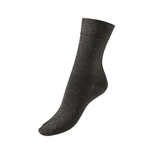 GoWell Med X-Static - Socken mit antimikrobieller Silber-Faser - perfekt bei Diabetes, Allergien, Fußgeruch, Fußschweiß & senbsiblen oder temperaturempfindlichen Füßen - Größe V - Farbe schwarz