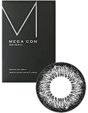 カラコン メガコン 15.0 着色14.6 1ヶ月 1箱1枚 ブラックサークル
