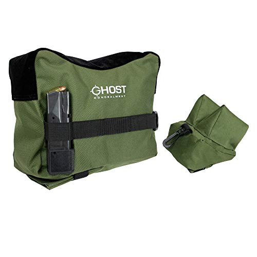Ghost Concealment Shooting Rest Bags Front & Rear Rifle Support Bags - Sand Bag Stand Holders for Rifles, Shooting, Range and Hunting - Pistol Shooting Bag - Unfilled