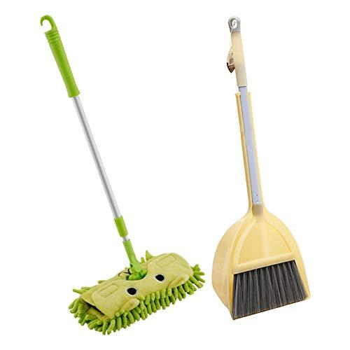 Maliyaw Ausgedehntes Reinigungsspielzeug der Kinder - Kindermopp-Besen-Kehrschaufel-Satz, Mini-Reinigungswerkzeug für Kinder ab 3 Jahren