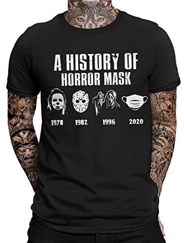 A History of Horror Mask Herren Fun T-Shirt | Halloween | Purge | Funny | Statement | Männer Horror Shirt
