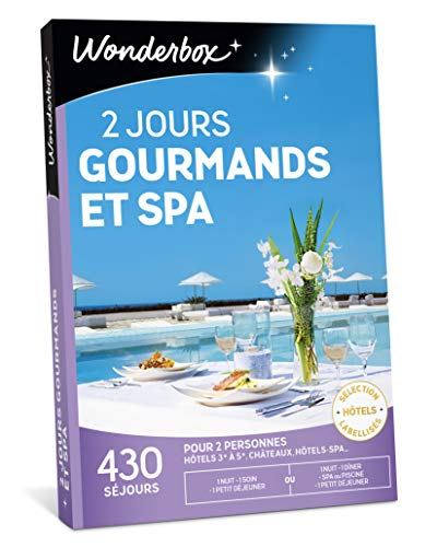 Coffret Wonderbox Escapade gourmande et spa