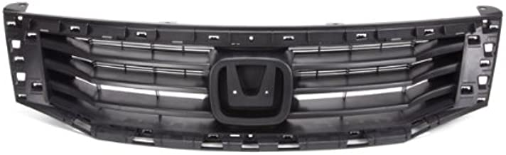 CarPartsDepot, Front Grille Grill Raw Black CAPA Certified w/o Chrome Trim Assembly, 400-20555-CA HO1200189 71121TA0A00