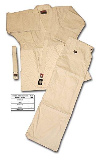 Shogun greggi Judo/gi/Abiti, Colore: Bronzo, di Alta qualità, Beige (Bianco),