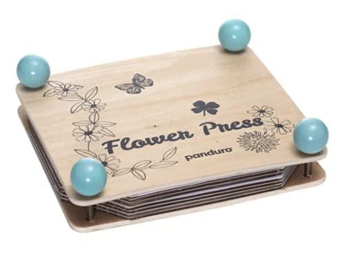 Panduro Prensa de flores de madera Herbario para hacer tú mismo, juego...