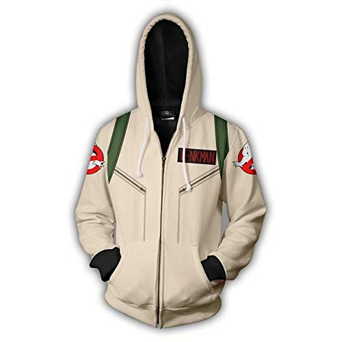Adults Ghostbusters Venkman Costume Hoodie, Classic or New Style, S to 5XL