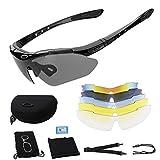 Gafas De Sol Polarizadas,Gafas de Sol Deportivas,con 5 Lentes Intercambiables UV400 Protección Antivaho Antireflejo...