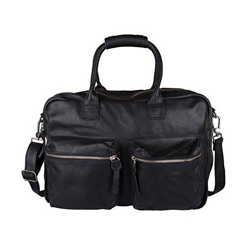 Cowboysbag The Bag 1030 Reisetasche Weekender, Ledertasche, schwarz, 46x36x14 cm (B x H x T)
