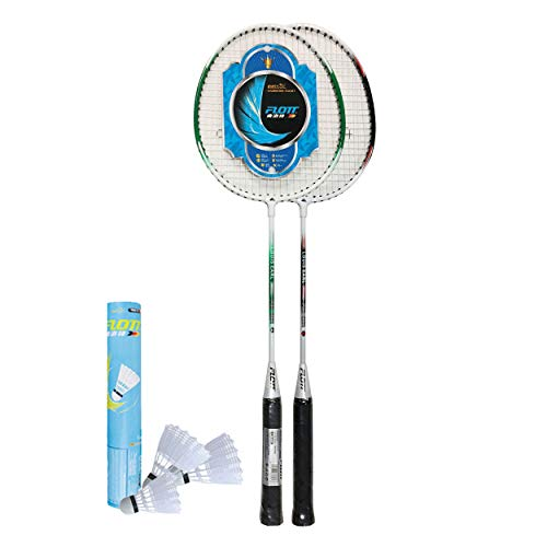YoungLA Flott Badminton Rackets for Adults and Kids   2 Player Set with 3 Shuttlecocks amp Carrying Bag   0584